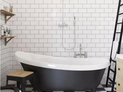 大户型宜家风格浴缸卫生间效果图
