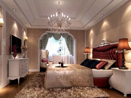 新古典风格家居大卧室背景墙设计图