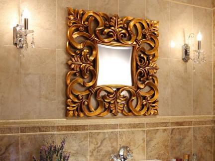 欧式风格装饰镜卫生间洗手台装修设计