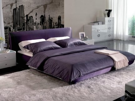 白色现代简约风格卧室床头柜效果图