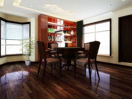 工业风格三居室餐厅酒柜效果图