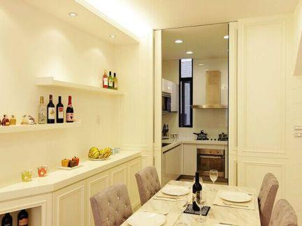 混搭风格复式餐厅酒柜装修效果图