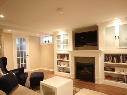 现代简约小空间客厅组合柜装修效果图