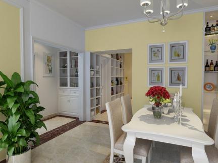 现代简约风格二居室餐厅酒柜装修效果图