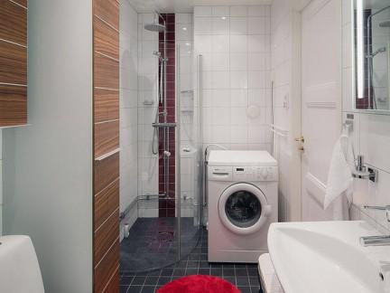 小户型现代风格原木色淋浴房卫生间效果图