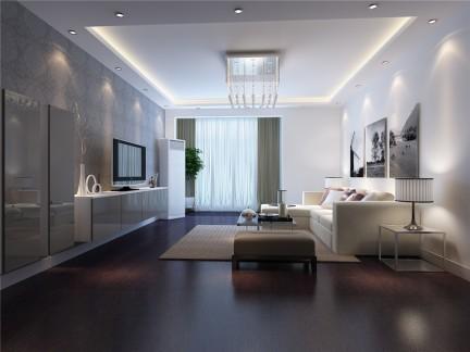 极简北欧风格客厅电视背景墙壁纸装修图片图片
