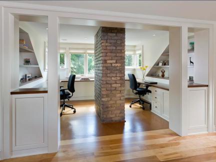 别墅180平简欧风格白色地下室装修效果图
