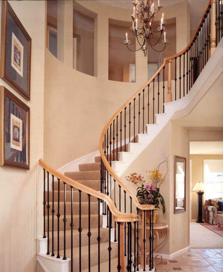 复式204平奢华欧式旋转楼梯装修效果图图片