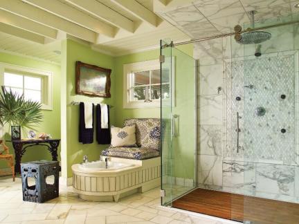 混搭风格大户型淋浴房卫生间效果图