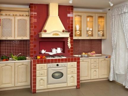93平混搭风两居室厨房橱柜装修效果图