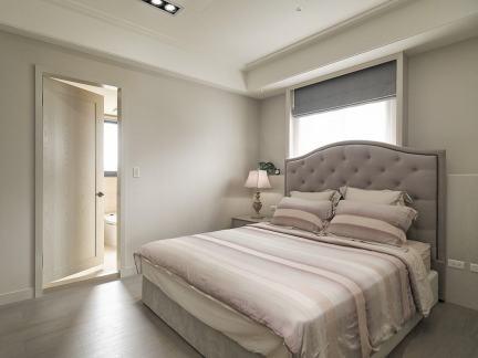 美式风格温馨灰色卧室装修效果图
