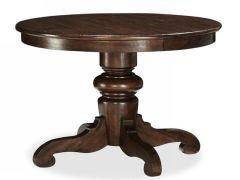 重庆木朵朵简美式家具全实木餐桌圆餐桌rhh美式乡村餐桌田园定