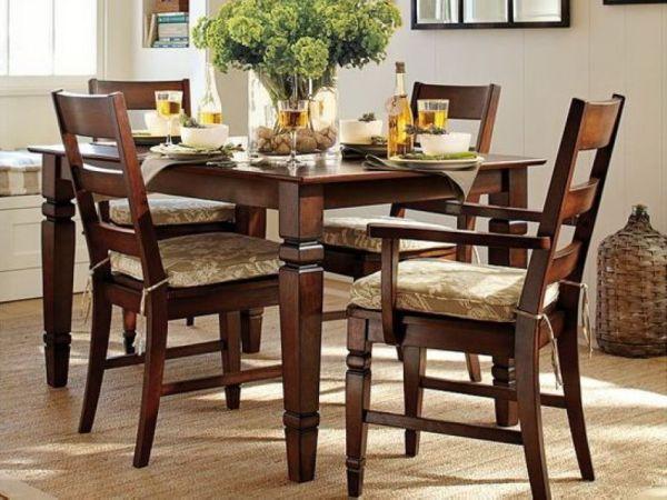 木朵朵美式家具餐厅方餐桌全实木红橡木餐桌乡村HH定制实拍