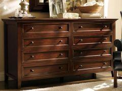 【木朵朵】全实木定制家具八斗柜pottery简美式卧室梳妆台