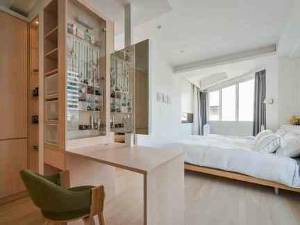 洁净卧室简约风格一室一厅小户型装修图片