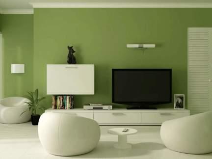 创意设计风格客厅白色隐形门装修效果图
