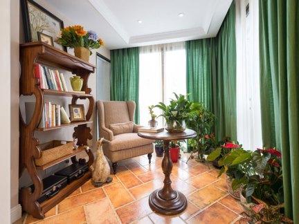 古典欧式风格阳台书房装修实景图