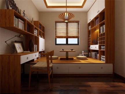 日韩风格三居室气质书房榻榻米装修图片