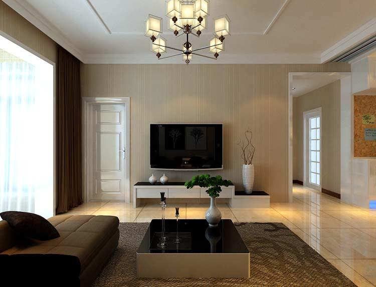 现代简约-48.98平米一居室装修样板间