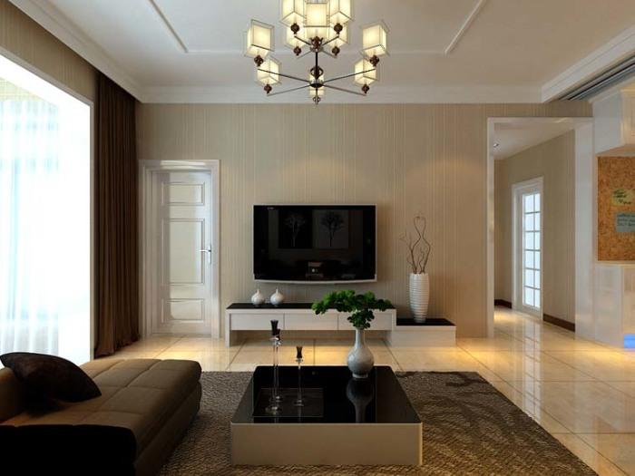 现代简约-48.98平米一居室-装修样板间