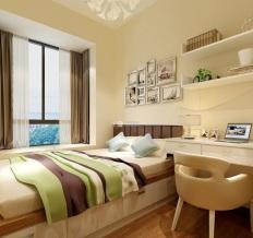 一号家居网祝福红城三室两厅现代简约风格