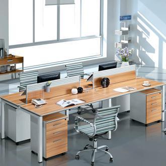 创圣 经典 简约办公桌屏风 四人位组合 桌上屏风隔断