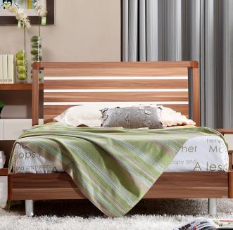 A家家具 1.2米儿童床成套儿童卧室家具实木儿童床床头柜