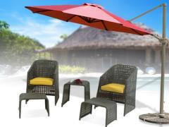丰舍户外伞户外防紫外线遮阳伞 3.3m户外防雨防腐高档折叠
