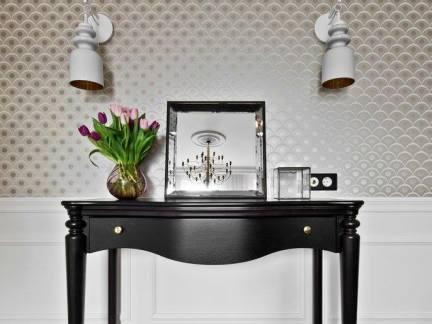复古款式客厅装饰书桌装修效果图