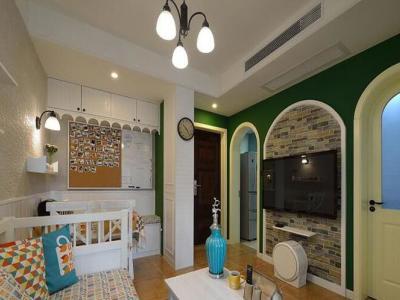 欧美风情-42.69平米一居室装修样板间