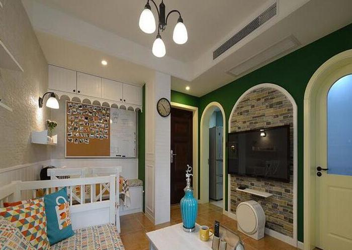 欧美风情-42.69平米一居室-装修样板间