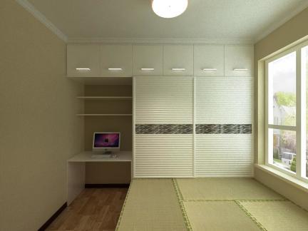 榻榻米装潢设计效果图日式风格绿色环保