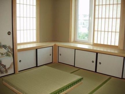 25平米日式风格传统韵味卧室实景图