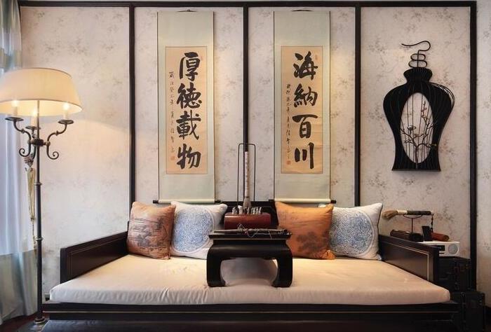 中式风格-133.86平米三居室-装修样板间