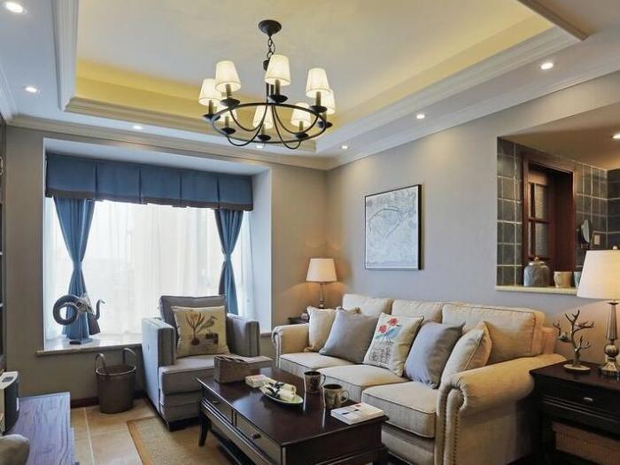 中式古典-94平米三居室-装修样板间