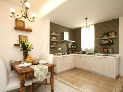 田园风格-99平米二居室装修样板间