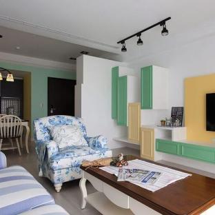 欧美风情三居室客厅装修效果图