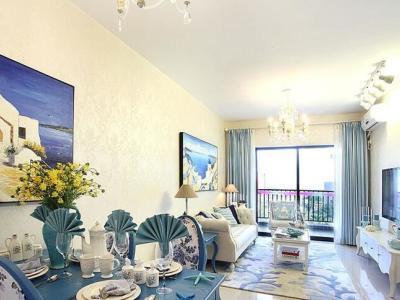 地中海风格-118平米三居室装修样板间