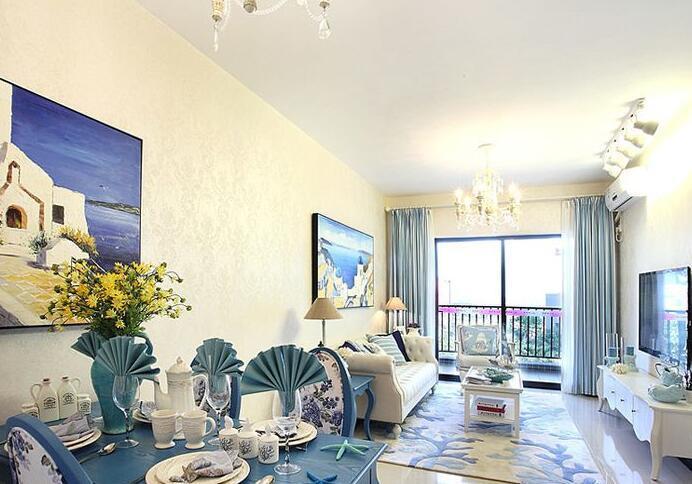 地中海风格-118平米三居室-装修样板间