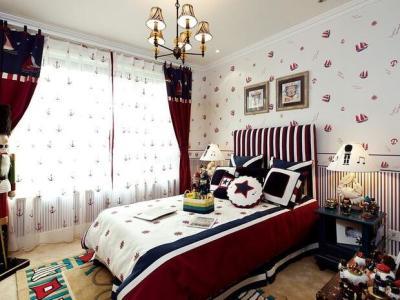 地中海风格-125平米三居室装修样板间