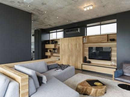 家装软包电视背景墙效果图原木色简约风格
