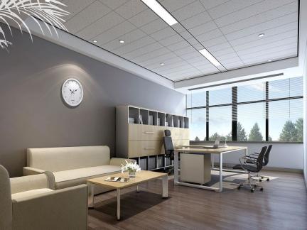 典雅灰色办公室简约风格装修效果图