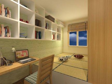 日式风格舒适榻榻米装潢设计效果图