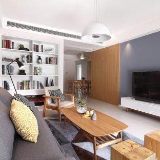 日韩风格三居室装修效果图