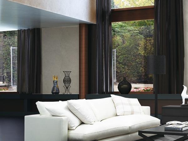 LIGNRUE简约现代转角布艺沙发客厅大户型组合茶几北京家具