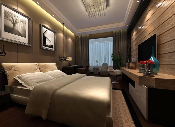 简欧风格复式卧室床装修效果图大全图片