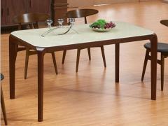 左派北欧简约现代全实木餐桌椅组合