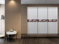 顶固衣柜 T01边框 上下平板 米拉腰线(花色:白浮雕)