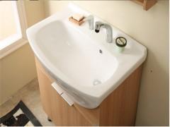 班帝 简约现代落地浴室柜实木卫浴柜组合陶瓷大台盆镜柜