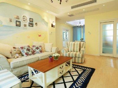 地中海风格-126平米三居室装修样板间